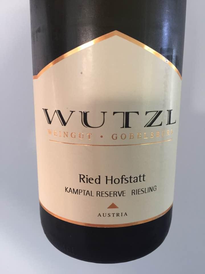 Wutzl – Riesling 2016 Ried Hofstatt – Kamptal Reserve DAC