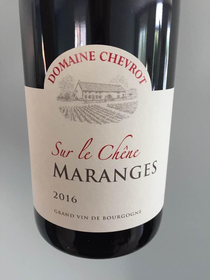 Domaine Chevrot – Sur le Chêne 2016 – Maranges