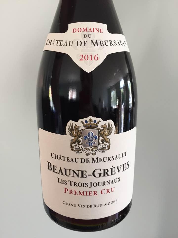 Domaine du Château de Meursault – Les Trois Journaux 2016 – Beaune- Greves, 1er Cru