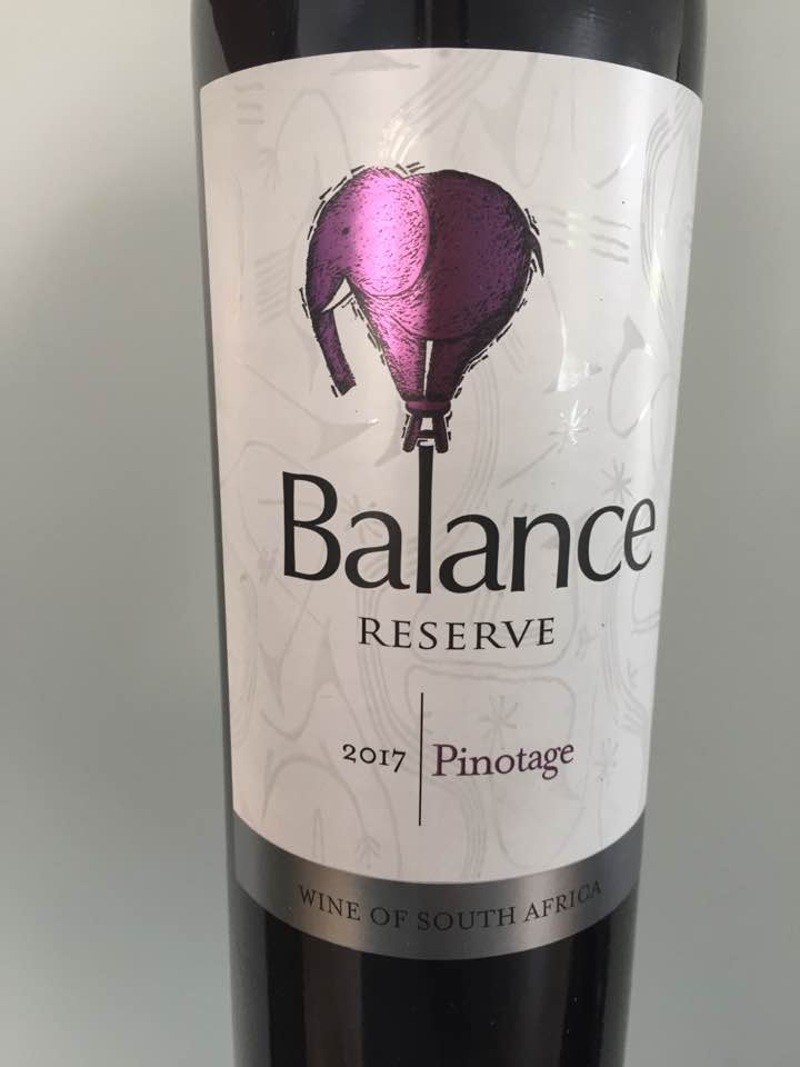 Balance – 2017 Pinotage Reserve – W.O. Western Cape, South Africa