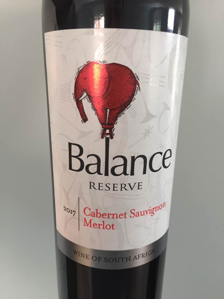 Balance – 2017 Reserve Cabernet Sauvignon, Merlot – W.O. Western Cape, South Africa