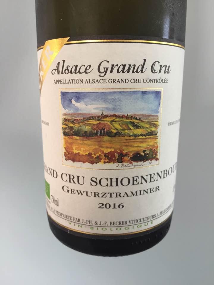 Becker – Gewurztraminer 2016 – Alsace Grand Cru, Schoenenbourg