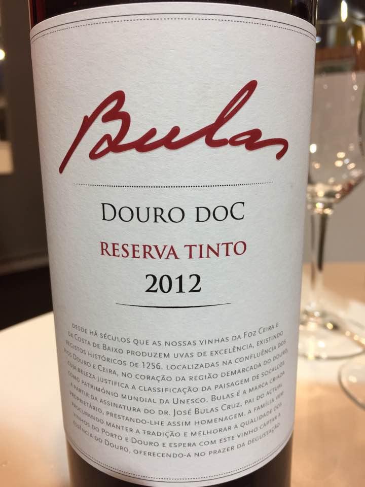 Bulas – Reserva Tinto 2012 – Douro DOC