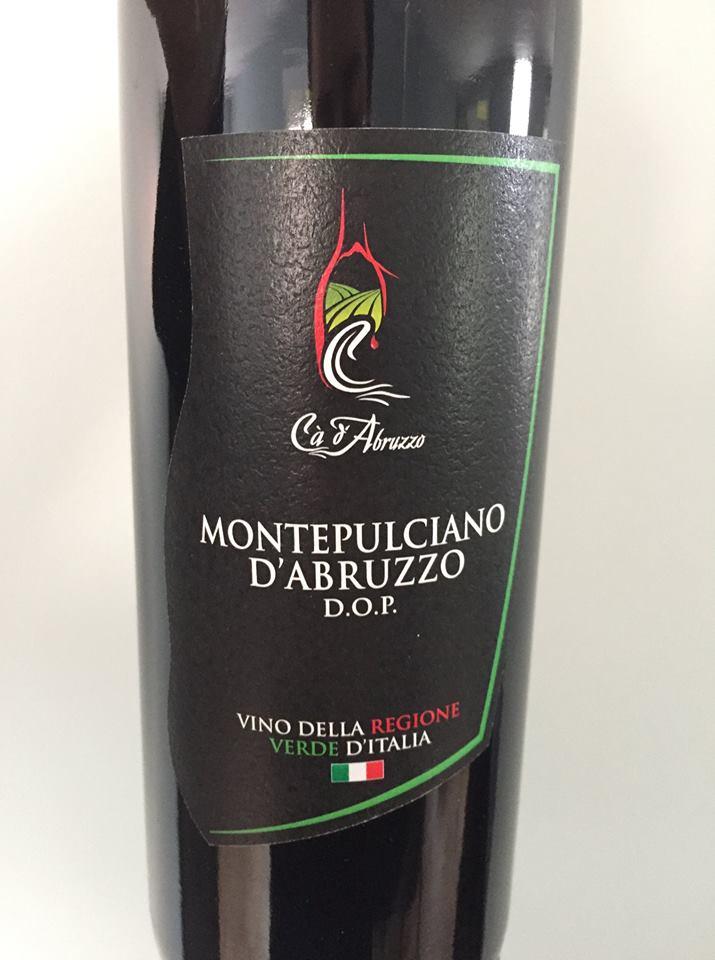 Cà d'Abruzzo 2016 – Montepulciano d'Abruzzo