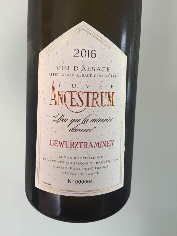 Cave des Vignerons de Pfaffenheim – Cuvée Ancestrum 2016, Gewurztraminer – Alsace