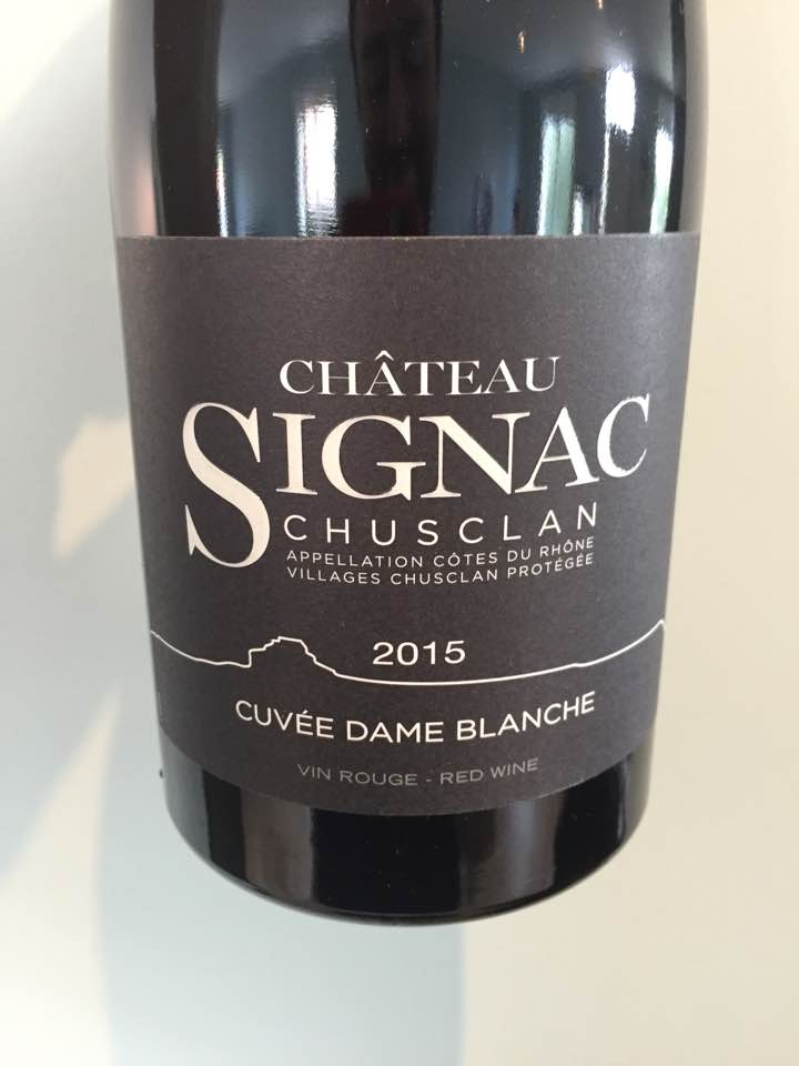 Château Signac – Cuvée Dame Blanche 2015 – Côtes du Rhône Villages, Chusclan