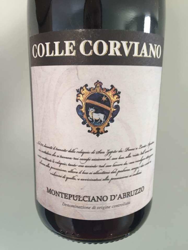 Colle Corviano 2016 – Montepulciano D'Abruzzo