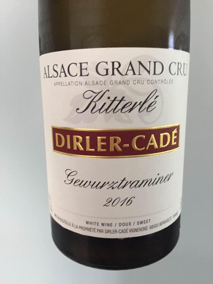 Dirler-Cadé – Gewurztraminer 2016 – Alsace Grand Cru, Kitterlé