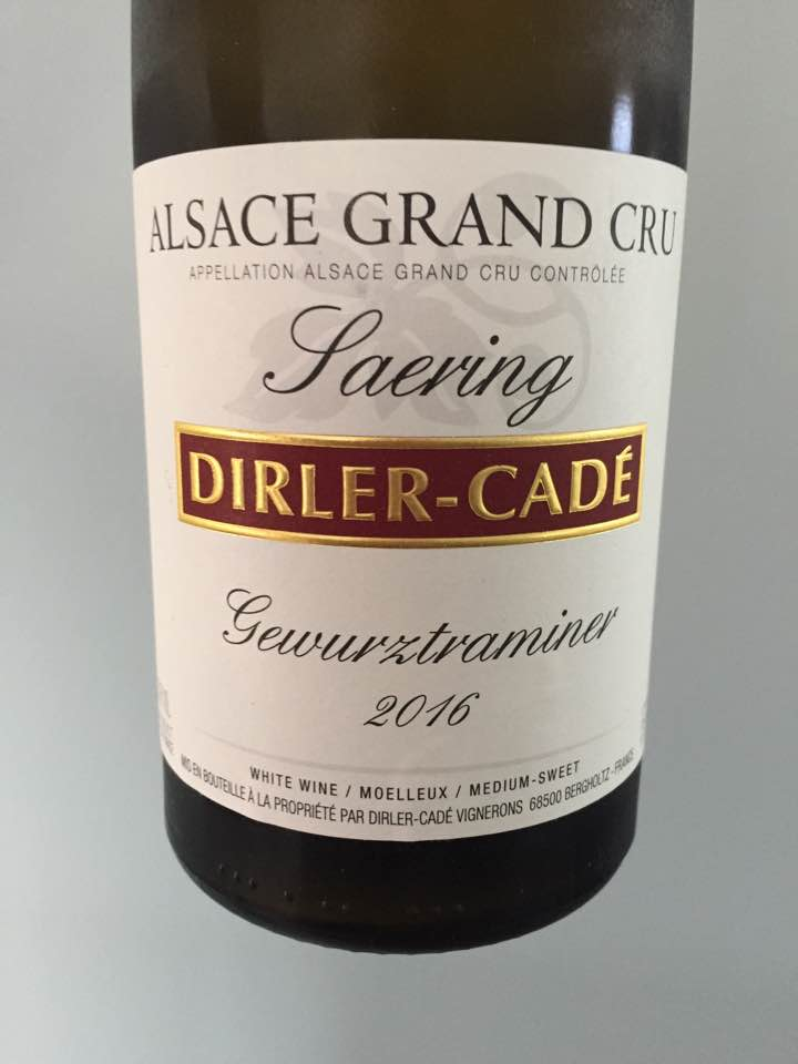 Dirler-Cadé – Gewurztraminer 2016 – Alsace Grand Cru, Saering