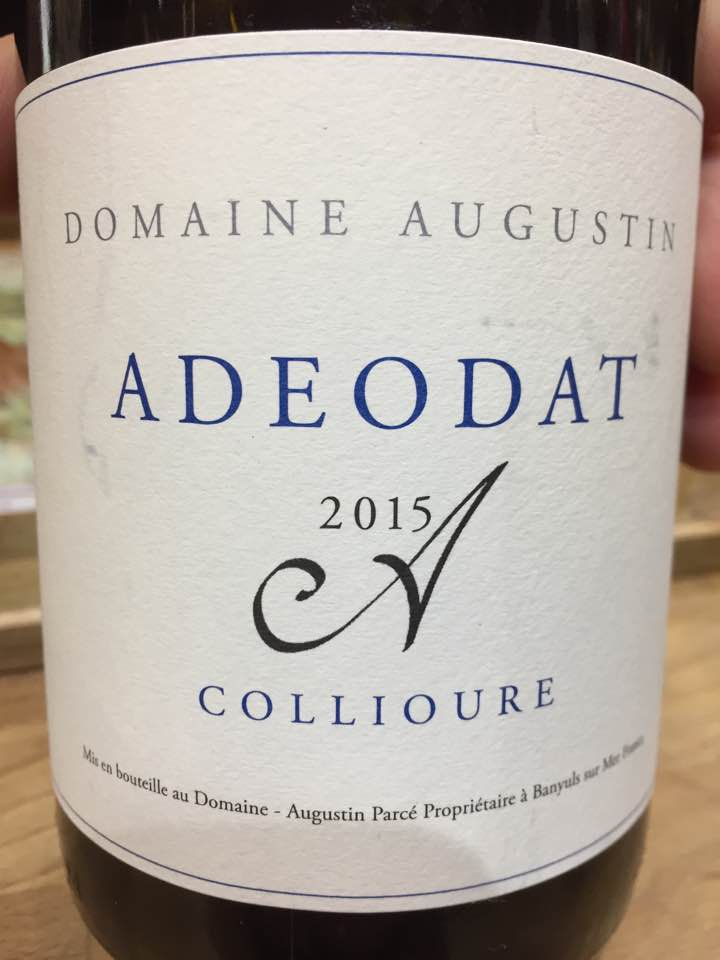 Domaine Augustin – Adeodat 2015 – Collioure