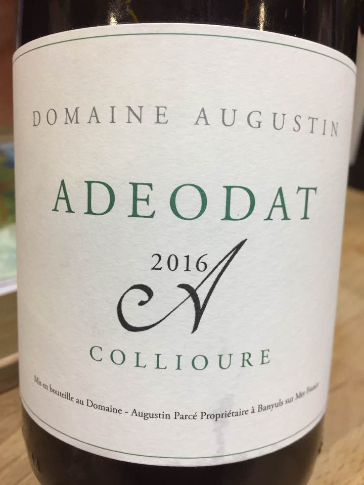Domaine Augustin – Adeodat 2016 – Collioure