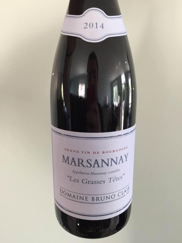 Domaine Bruno Clair – Les Grasses Têtes 2014 – Marsannay