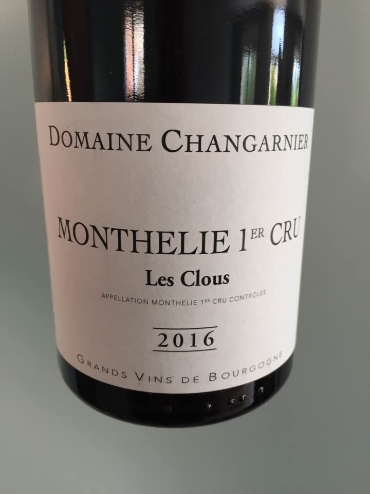 Domaine Changarnier – Les Clous 2016 – Monthelie 1er Cru