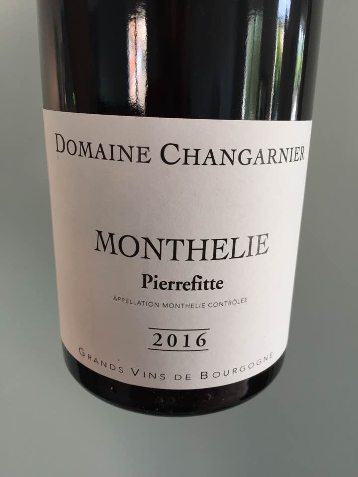 Domaine Changarnier – Pierrefitte 2016 – Monthelie