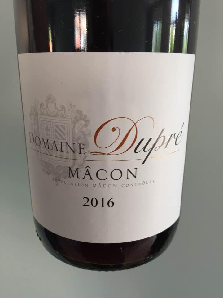 Domaine Dupré 2016 – Mâcon