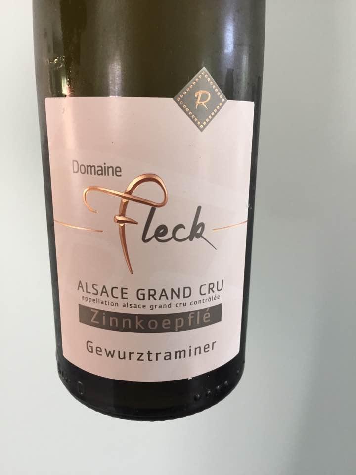 Domaine Fleck – Gewurztraminer 2016 – Alsace Grand Cru, Zinnkoepflé