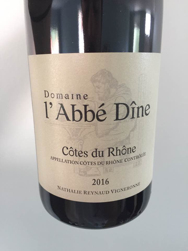 Domaine L'Abbé Dîne 2016 – Côtes du Rhône
