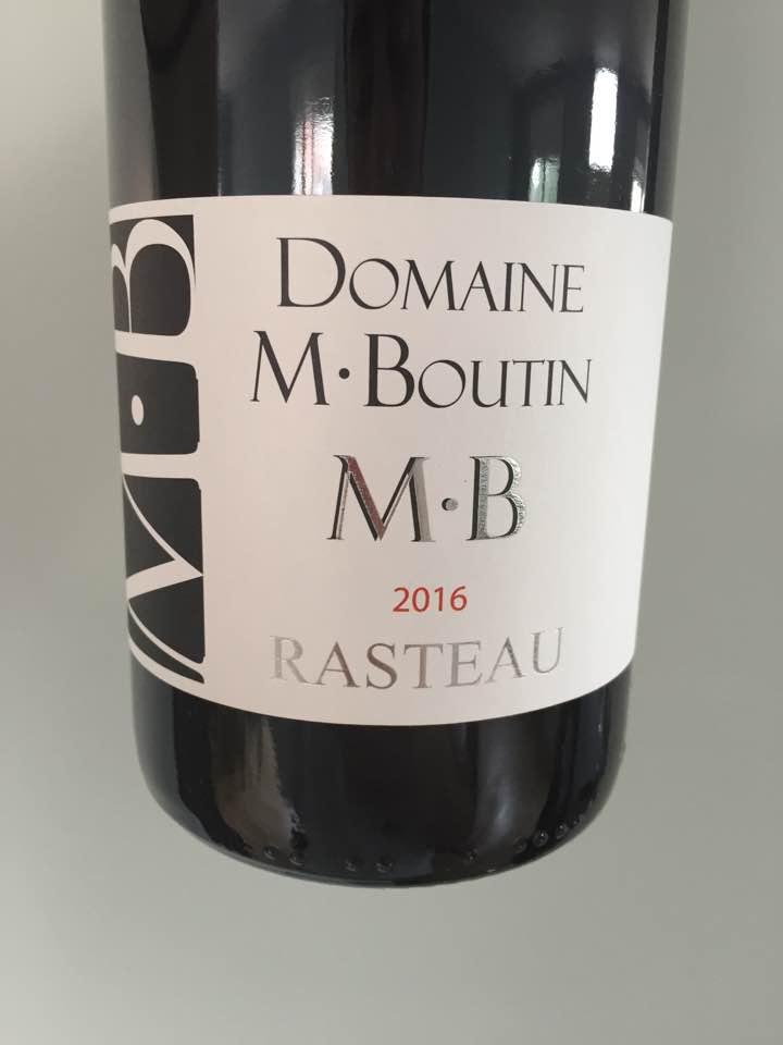 Domaine M. Boutin 2016 – Rasteau