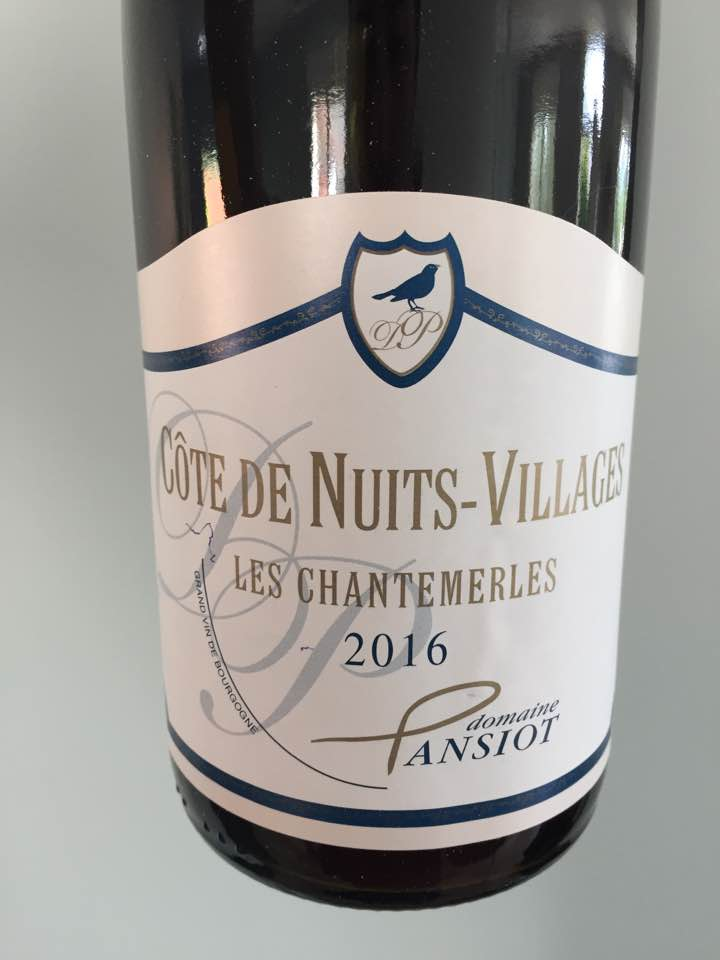 Domaine Pansiot – Les Chantemerles 2016 – Côte de Nuits-Villages