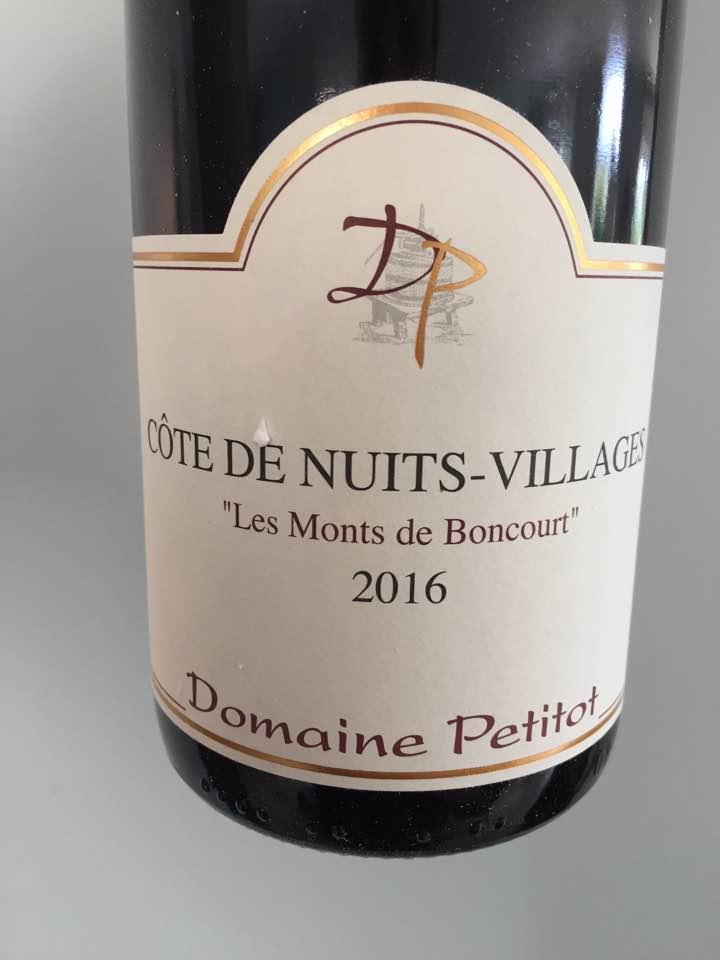 Domaine Petitot – Les Monts de Boncourt 2016 – Côte de Nuits-Villages