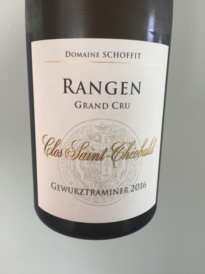 Domaine Schoffit – Clos Saint-Théobald – Gewurztraminer 2016 – Alsace Grand Cru, Rangen