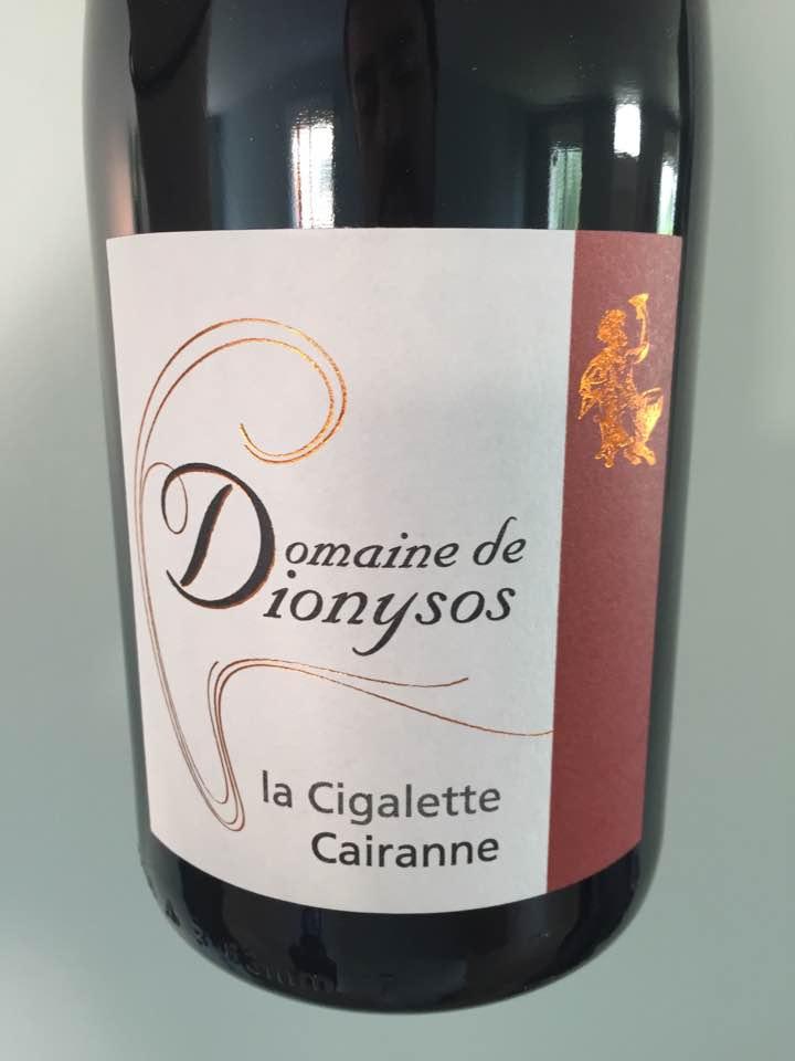 Domaine de Dionysos – La Cigalette 2015 – Cairanne