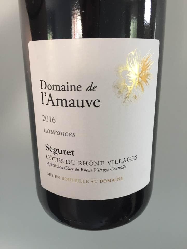 Domaine de l'Amauve – Laurences 2016 – Côtes du Rhône Villages, Séguret