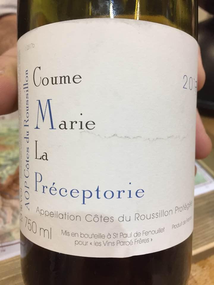 Domaine de la Préceptorie – Coume Marie 2017– AOC Côtes du Roussillon
