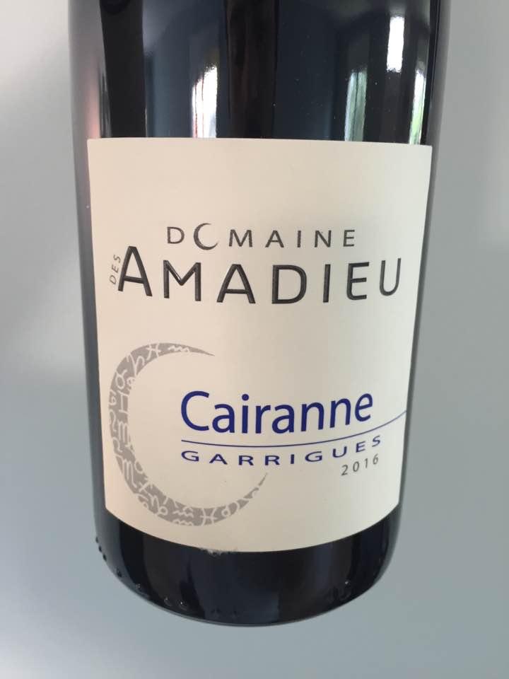 Domaine des Amadieu – Garrigues 2016 – Cairanne