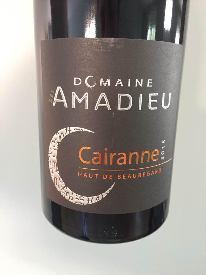 Domaine des Amadieu – Haut de Beauregard 2015 – Cairanne