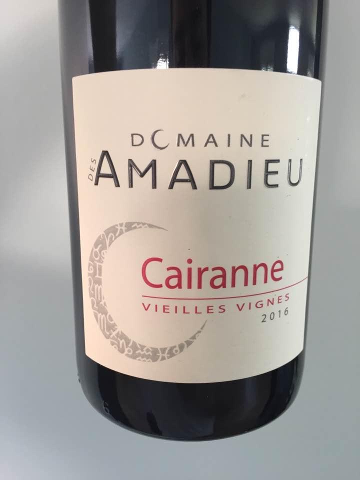 Domaine des Amadieu – Vieilles Vignes 2016 – Cairanne
