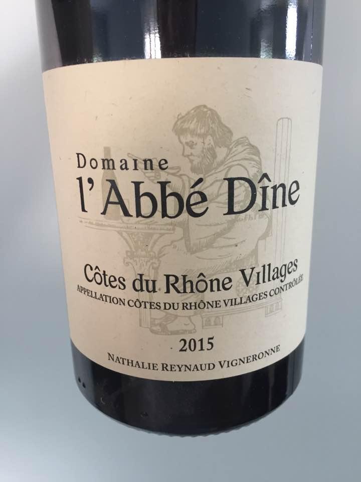 Domaine l'Abbé Dîne 2015 – Côtes du Rhône Villages
