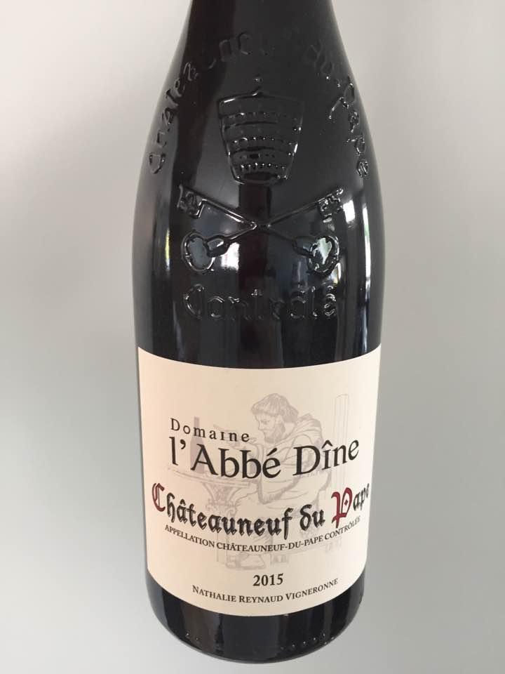 Domaine l'Abbé Dîne 2015 – Châteauneuf-du-Pape