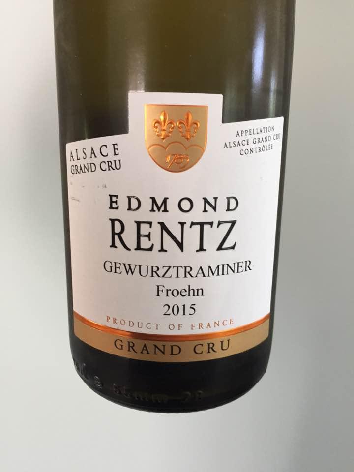 Edmond Rentz – Gewurztraminer 2015 – Alsace Grand Cru, Froehn