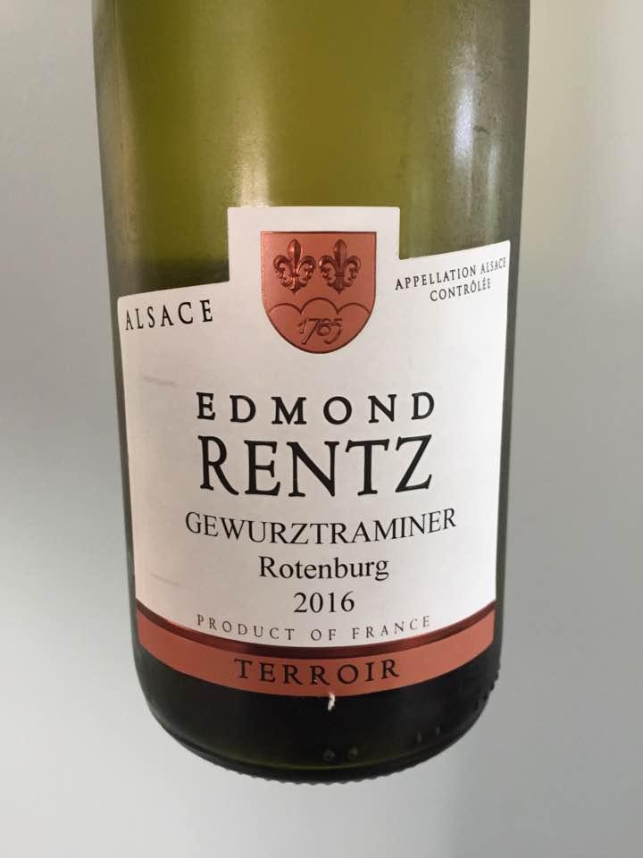 Edmond Rentz – Gewurztraminer 2016, Terroir – Alsace, Rotenburg