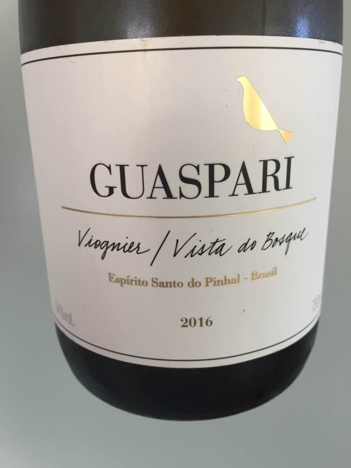 Guaspari – Viognier / Vista do Bosque 2016 – Espirito Santo do Pinhal, Brasil