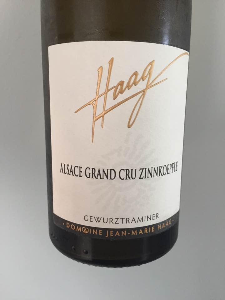 Haag – Cuvée Marie 2016, Gewurztraminer – Alsace Grand Cru, Zinnkoepfle