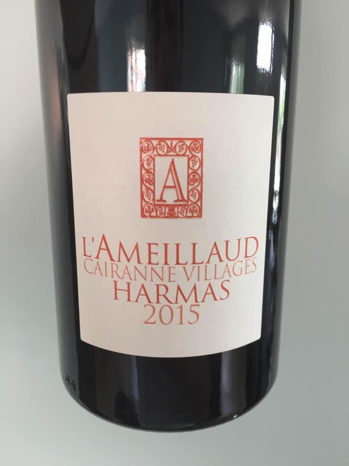 Harmas – L'Ameillaud – Cairanne 2015 – Côtes du Rhône Villages
