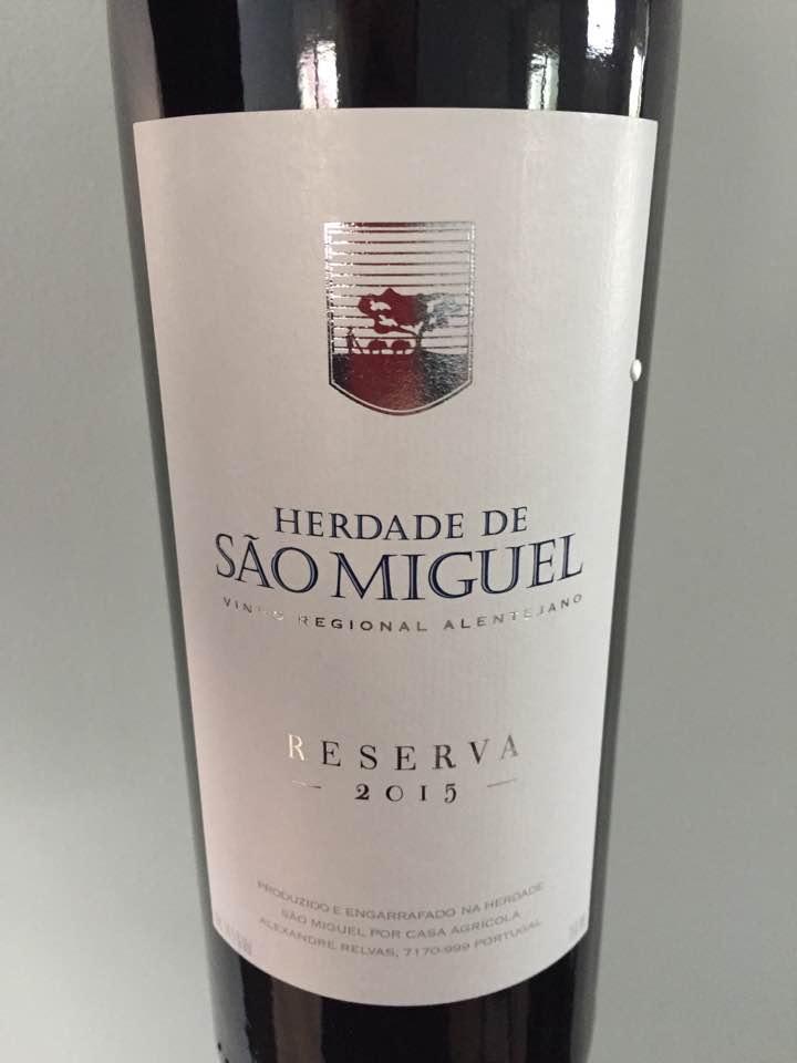 Herdade de Sao Miguel – Reserva 2015 – Vinho Regional Alentejano