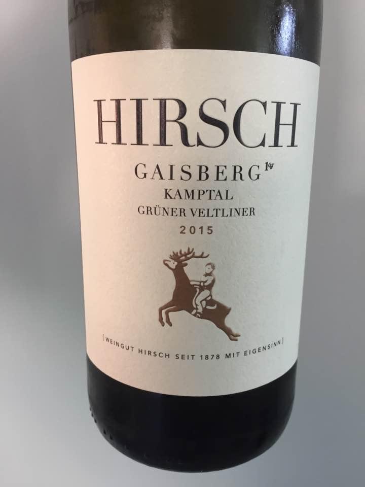 Hirsch – Grüner Veltliner 2015 Gaisberg 1ÖT.W  – Kamptal