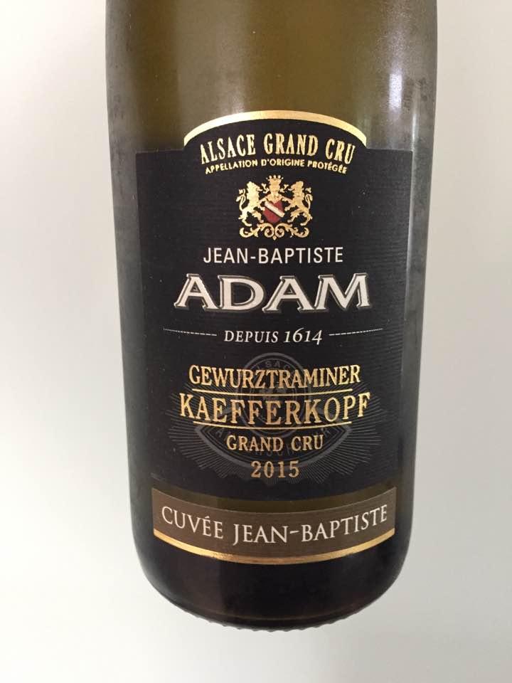 Jean-Baptiste Adam – Cuvée Jean-Baptiste 2015, Gewurztraminer – Alsace Grand Cru, Kaefferkopf