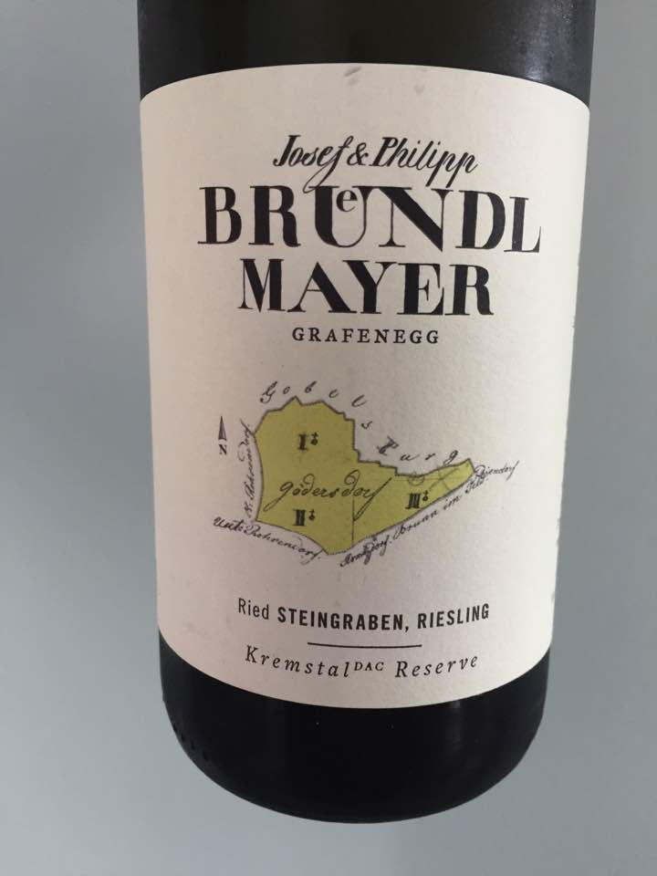 Josef & Philipp Brundl Mayer – Riesling 2016 Ried Steingraben – Kremstal DAC Reserve