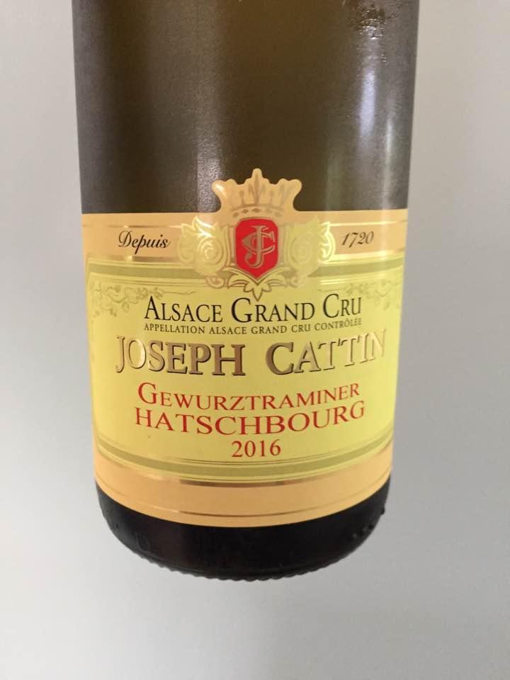 Joseph Cattin – Gewurztraminer 2015 – Alsace Grand Cru, Hatschbourg