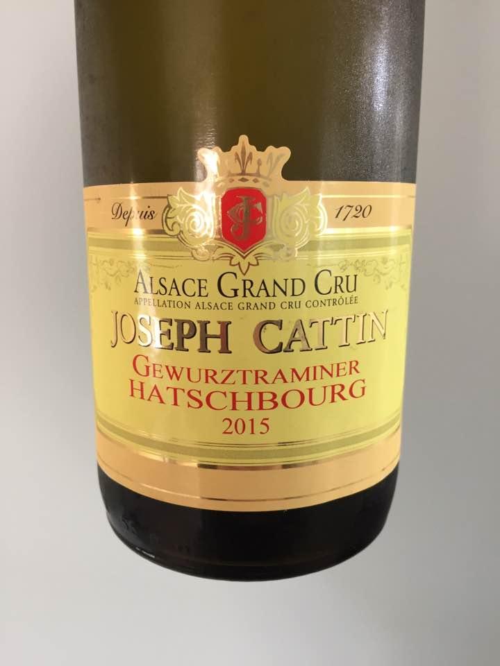Joseph Cattin – Gewurztraminer 2016 – Alsace Grand Cru, Hatschbourg