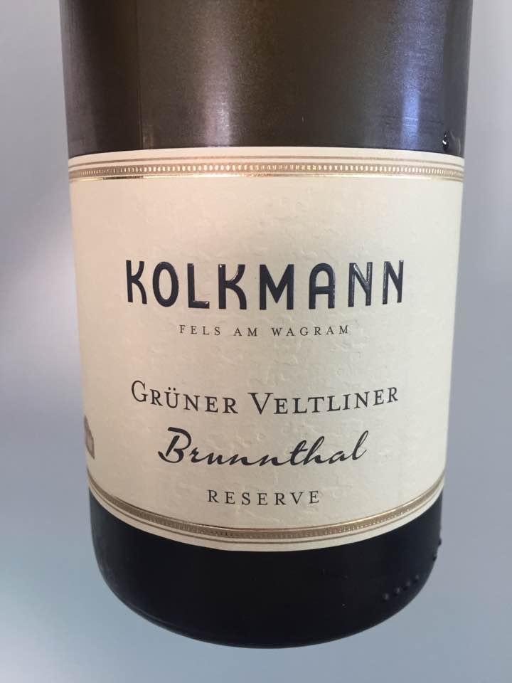 Kolkmann – Grüner Veltliner 2016 Brunnthal Rererve – Wagram