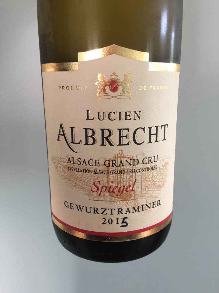 Lucien Albrecht – Gewurztraminer 2015 – Alsace Grand Cru, Spiegel