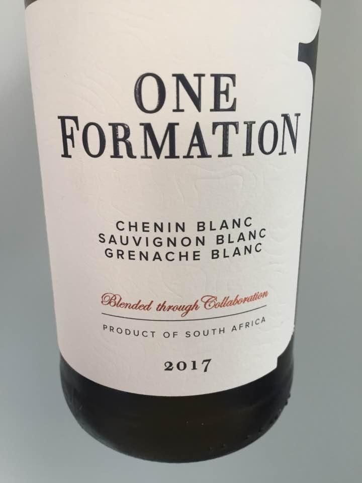 One Formation – Chenin Blanc / Sauvignon Blanc / Grenache Blanc 2017 – W.O. Coastal Region, South Africa