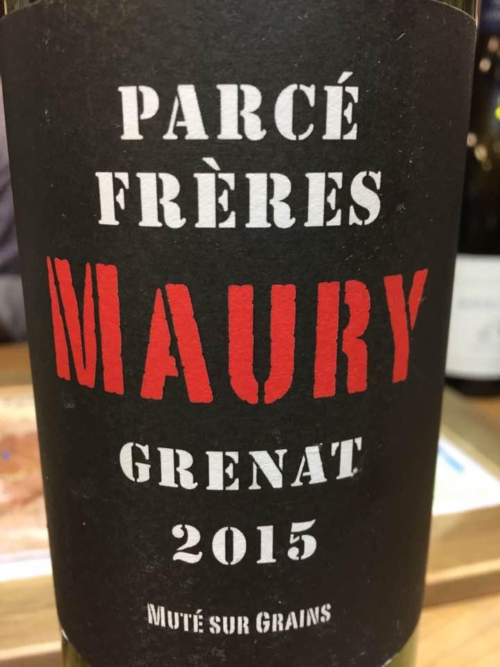 Parcé Frères – Grenat 2015– Maury