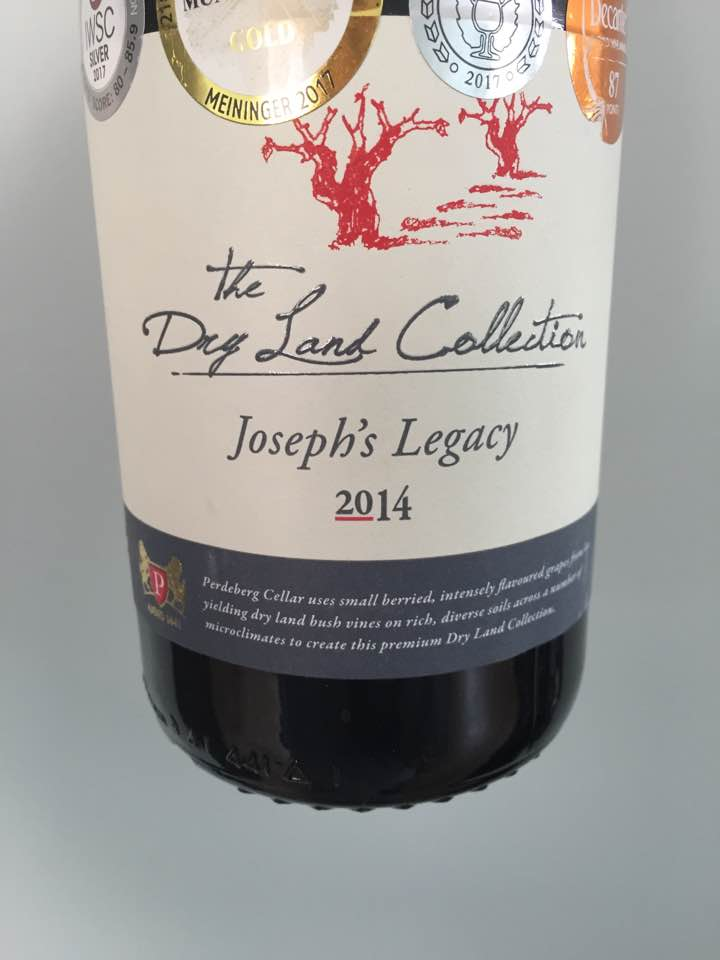 Perdeberg Cellard – The Dry Land Collection – Joseph's Legacy 2014 – W.O. Coastal Region, South Africa