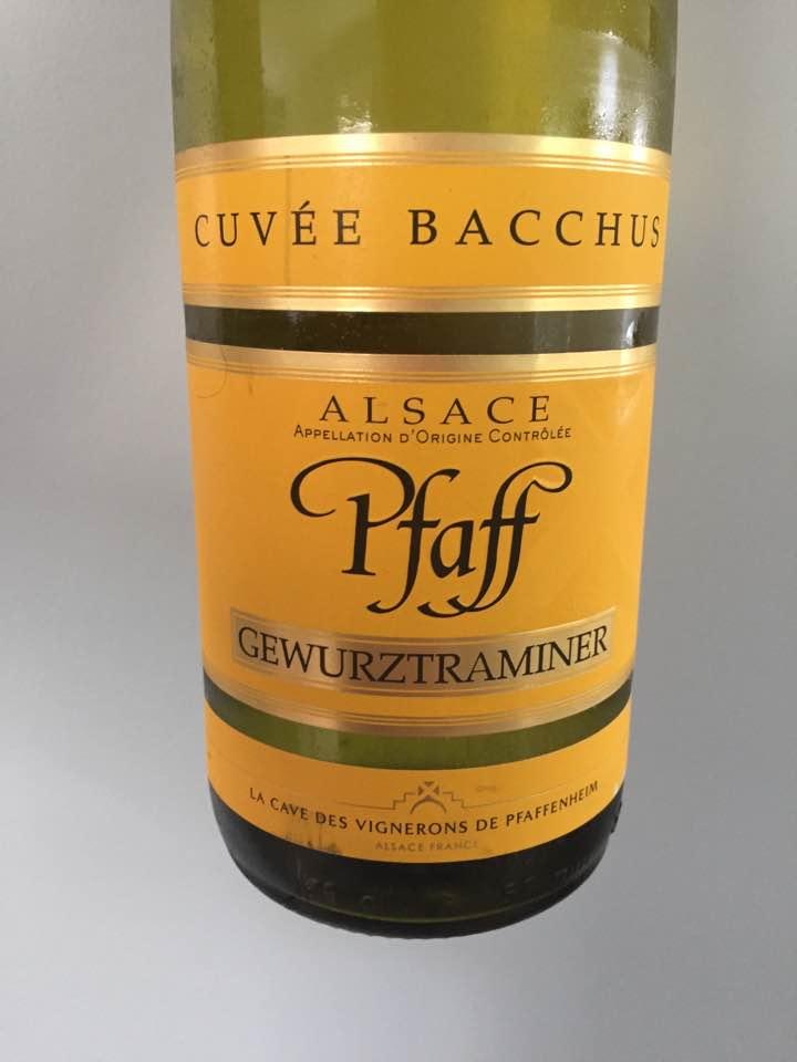 Pfaff – Cuvée Bacchus 2016 – Gewurztraminer – Alsace